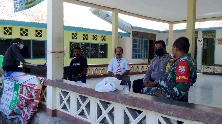 Sinergitas TNI/Polri Bhabinkamtibmas Bersama Babinsa Lakukan Patroli Sambang Binaan.