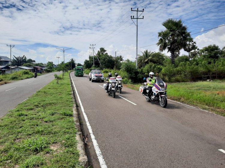 Turjawali Sat Lantas Polres Sikka Melaksanakan Patroli Dan Himbau Terkait Pencegahan Covid-19.