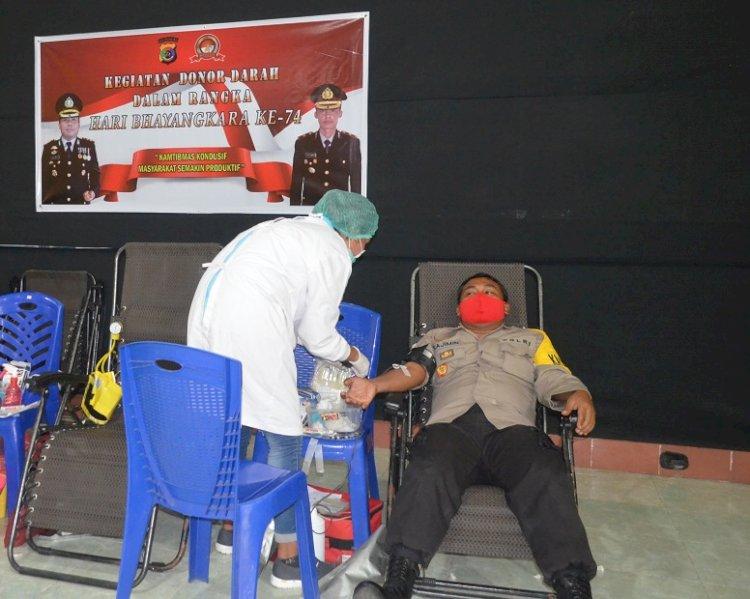 Polres Sikka Gelar Kegiatan Donor Darah Dalam Rangka Hari Bhayangkara Ke-74