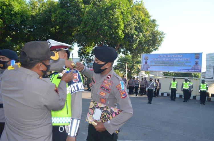 Kapolres Sikka Pimpin Apel Gelar Pasukan Operasi Patuh Turangga 2020