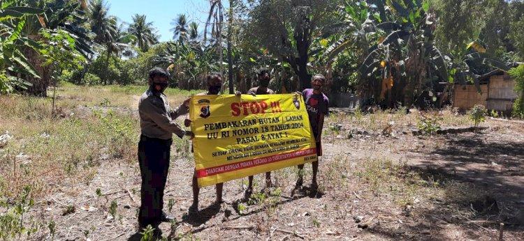 Sambangi Dusun Kampung Baru, Bripka Rio Ajak Masyarakat Untuk Tidak Membakar Hutan
