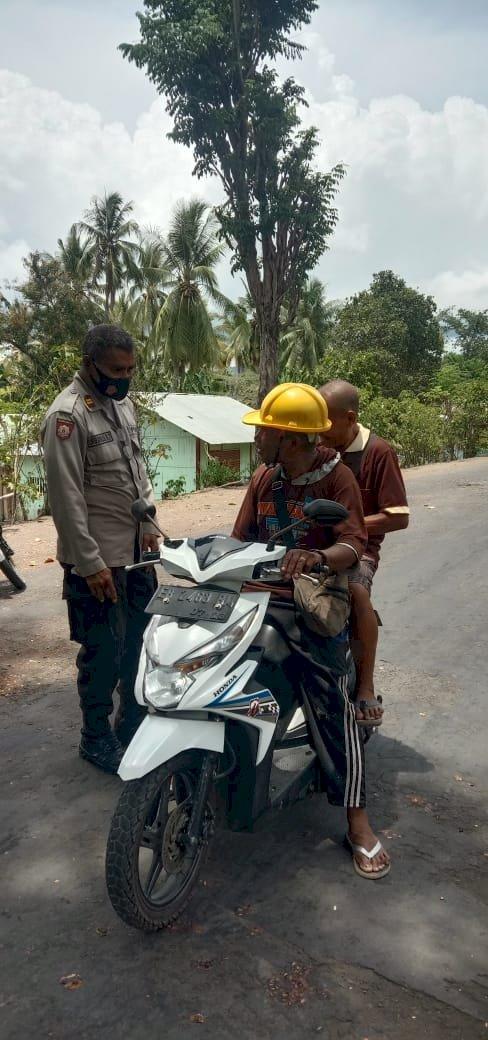 Kapolsek Lela Pimpin Operasi Yustisi Di Desa Lela, Kec. Lela, Kab. Sikka