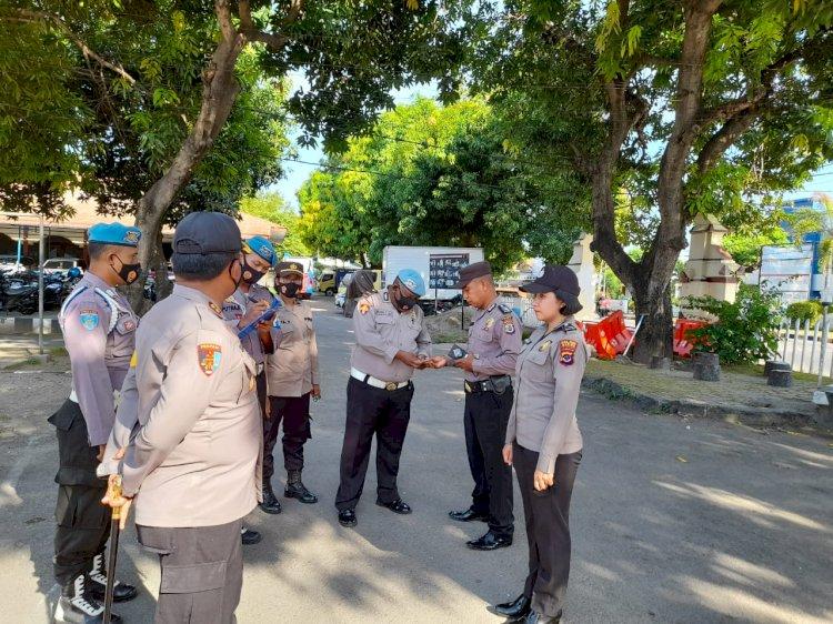 Operasi Gaktiblin, Kapolres Turun Langsung Cek Kelengkapan Administrasi Dan Kerapian Personil