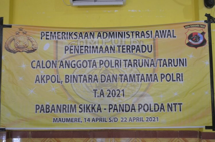 Bag Sumda Polres Sikka Laksanakan Rikmin Awal Penerimaan Terpadu Calon Anggota Polri
