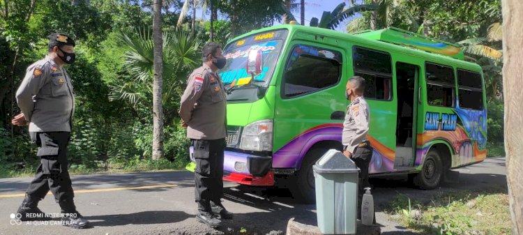 Polsek Paga laksanakan Operasi Gabungan Penyekatan Jalur Mudik