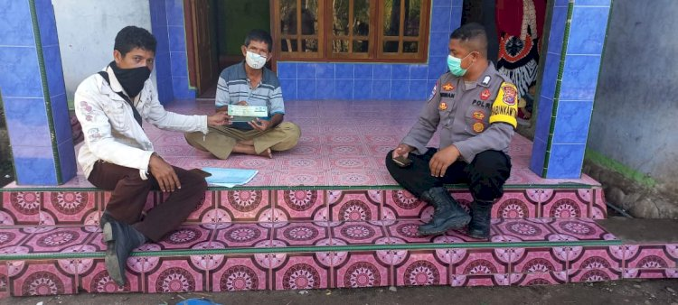 Bripka Sudirman, Dampingi Petugas Samsat Giat Pelayanan Pajak Door To Door