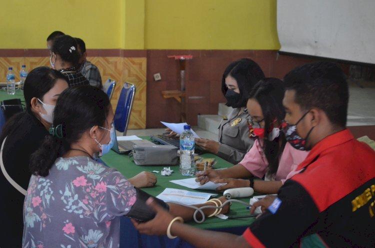 Gerai Vaksin TNI-Polri Polres Sikka Gelar Vaksinasi Tahap II