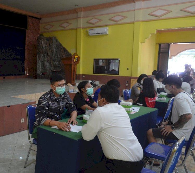 Gerai Vaksin TNI-Polri Polres Sikka kembali dibuka, 300 Dosis Vaksin siap diberikan untuk masyarakat