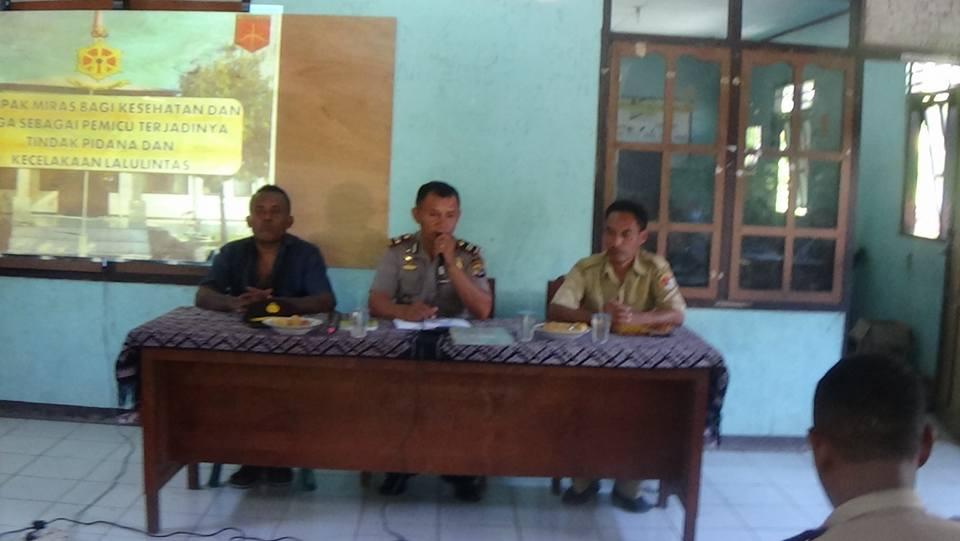 Kapolsek Lela Sosialisasi Tentang Kamtibmas di Desa Kolidetung