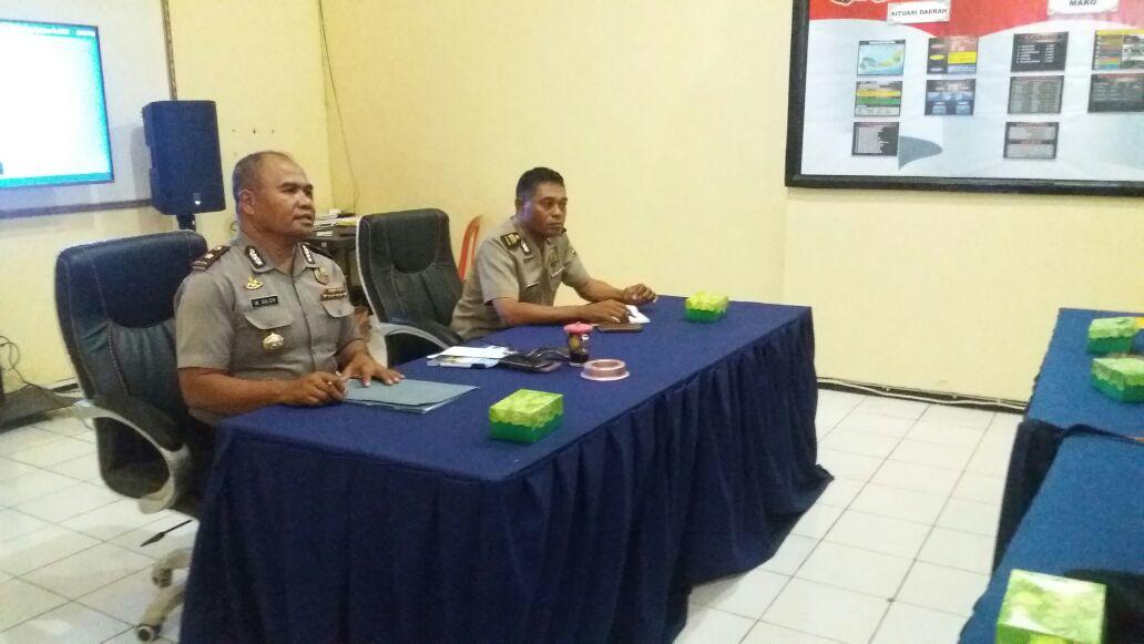 Jelang Pilkada Sikka 2018, Wakapolres Sikka Pimpin Rapat Pembentukan Tim Sispam Kota